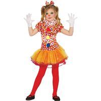 Extra fägglad clowndräkt med prickar och tutukjol 140 - 152 cm (10 - 12 år)