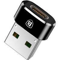 Baseus Mini USB 2.0 / USB 3.1 Type-C Adapter - Sort