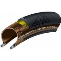 """Continental cykeldæk Grand Prix 4000 S II fold. 28"""" 700x23C 23-622 black/transp. Skin"""
