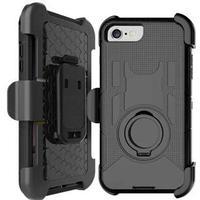 Hard Shield Case med bælte klips til iPhone 7 / iPhone 8 - Sort