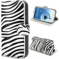 Samsung Galaxy S3 i9300 Pung Læder Taske - Zebra