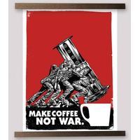 Make Coffee NOT WAR (plakat 46x61)
