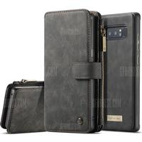 CaseMe for Samsung Galaxy Note 8 Wallet Case 2 in 1 Flip Folding Kickstand with 14 Card Slots Protective TPU PC Cover