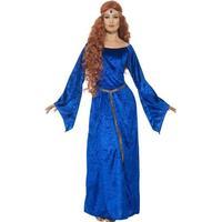 Smiffys Medieval Maid Costume Blue