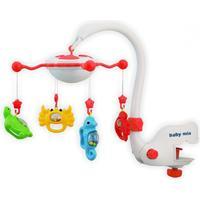 Baby Mix Sängmobil med Projektor Multifunktionell Röd