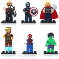 Gearbest DECOOL Building Block Super Heroes for Children 6Pcs / Set