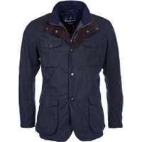 Barbour Mens Ogston Waxed Jacket, Navy, Medium