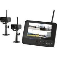 Övervakningssystem med dubbla kameror. Övervakningssystem
