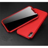 iPhone X 360 cover incl. panserglas rød