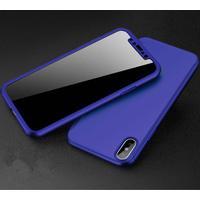 iPhone X 360 cover incl. panserglas blå