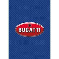 Bugatti logo on blue carbon fiber surface