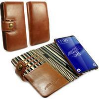 Alston Craig Samsung Galaxy S8+ Alston Craig RFID Vintage Läderfodral - Brun