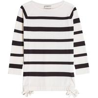 Moncler Striped Pullover in Wool-Silk Blend