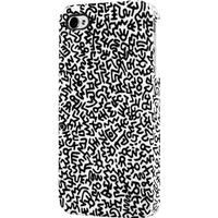 Keith Haring iPhone 4/4S Rubber Case, Graffiti pattern black