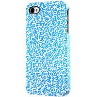Keith Haring iPhone 4/4S Rubber Case, Graffiti pattern blue