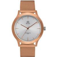 BOOM Watches Minne armbåndsur, RG sølv urskive, mesh rosaguld rem