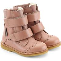 Angulus Tex-støvle m. velcro og hulmønster - Støvet Rosa (Størrelse (sko): 20)