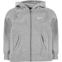 f003ad0b0bd9 Nike Brushed Fleece Full Zip - Dark Grey Heather/White (619069-063)