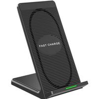 Wireless Charging Pad Stand Built-in Cooling Fan - Black
