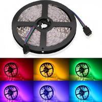 V-Tac 4,8W/m RGB stænktæt LED strip - 5m, 30 LED pr. meter