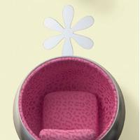 RoomMates - Wallstickers Blomster Spejl Stort