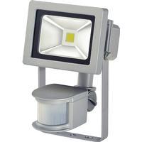0 Lampe med COB-LED 10 W + PIR IP44