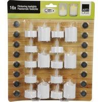LED Fyrfadslys 16-Pak Blandet
