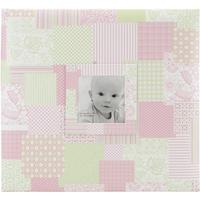"Album 12""x12"" mbi - baby girl patch cover pink - post bound"