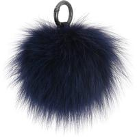 Cosy Concept Fur, äkta päls Pompom, Mörkblå
