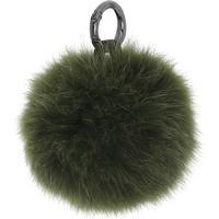 Cosy Concept Fur, äkta päls Pompom, Mossgrön
