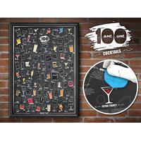 101 Cocktails Scratch Poster