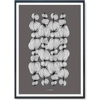Plakat - String 4 - Mørkegrå
