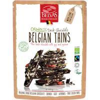 Belvas Belgian Thins Mörk Choklad,  120g