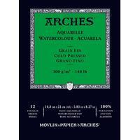 Arches Akvarellblock Limmad Kallpressad Arches 300g