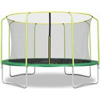 Fun Jump II 14ft x 2.4M Trampoline with enclosure safety net steel frame UV jump mat