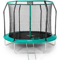 Ultimate 10ft Trampoline with enclosure safety net steel frame UV jump mat and ladder