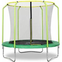 Fun Jump II 8ft x 2.4M Trampoline with enclosure safety net steel frame UV jump mat