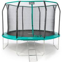 Ultimate 12ft Trampoline with enclosure safety net steel frame UV jump mat and ladder
