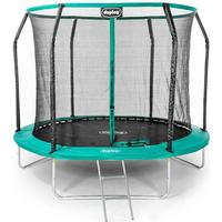 Ultimate 8ft Trampoline with enclosure safety net steel frame UV jump mat and ladder