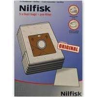 Nilfisk filterposer mikrofiber 5 stk, passer til Coupe, Neo og One støvsugere