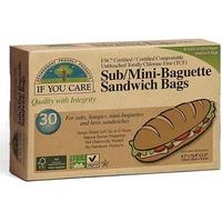 If you care Sub/mini baguette sandwich bags 30 stk. 1pk.