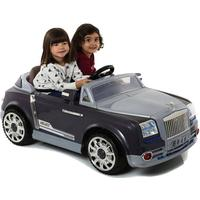 Ride On Car Twin 6V Electric Motorised GT Style Sit and Ride Toy in Grey