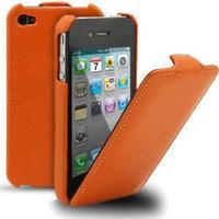 Melkco lædercover til iPhone 4 / 4S. Orange.