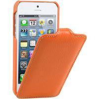 Melkco lædercover til iPhone 5/5S/SE. Orange.