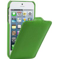 Melkco lædercover til iPhone 5/5S/SE. Grøn.
