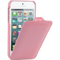 Melkco lædercover til iPhone 5/5S/SE. Pink.