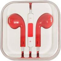 Hovedtelefon m. mikrofon - Rød