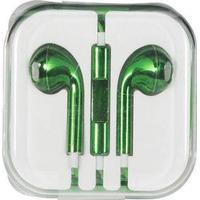 Høretelefon - In-ear Hovedtelefon - Grøn metal Look udstyret med mikrofon