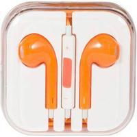 Høretelefon - In-ear Hovedtelefon - udstyret med mikrofon - Orange