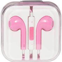 Høretelefon - In-ear Hovedtelefon - udstyret med mikrofon - Lyserød